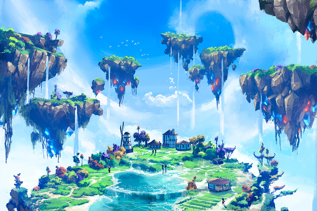 "Espen Olsen Sætervik's ""floating Islands"" Concept Art for Tethered."